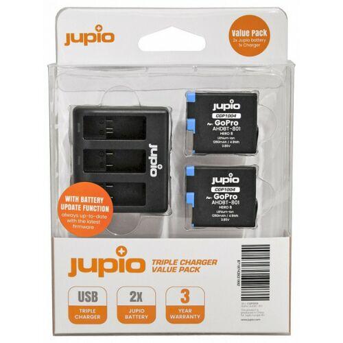 Jupio GoPro HERO 8 töltő szett 1260mAh (Tripla töltő + 2db akkumulátor)