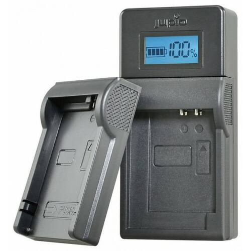 Jupio USB akkumulátor töltő Nikon, Olympus, Fuji és Pentax akkumulátorokhoz LCD kijelzővel