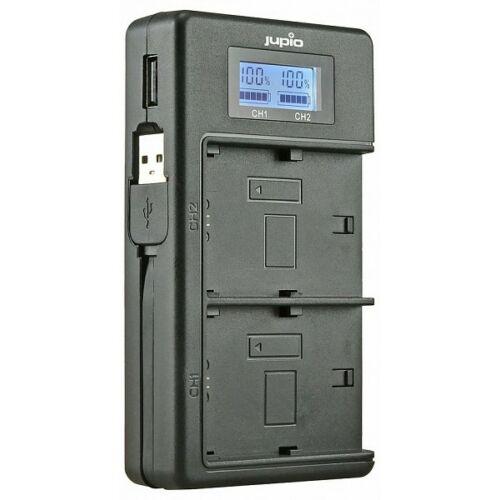 Jupio USB duo töltő LCD kijelzővel Canon LP-E10 akkumulátorokhoz
